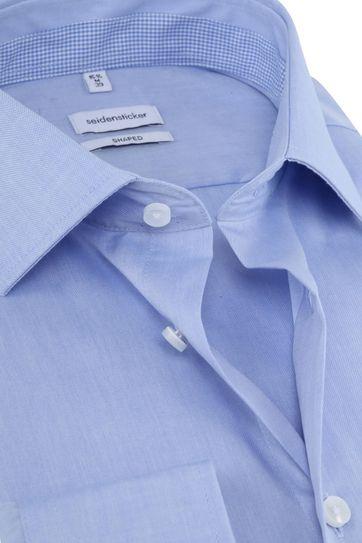 Seidensticker Hemd Shaped Blauw