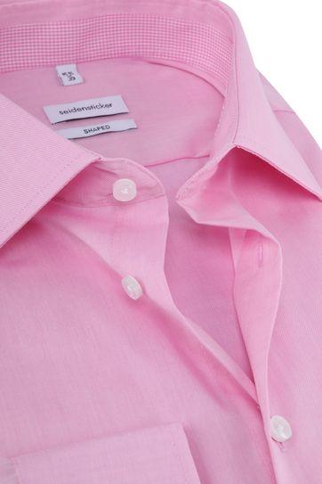 Seidensticker Hemd Shaped Pink