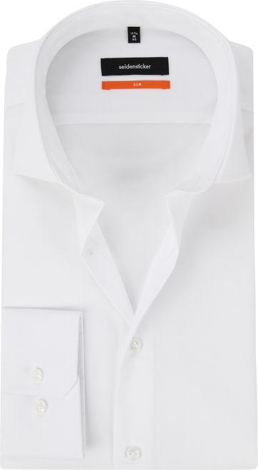 Seidensticker Hemd Slim-Fit Weiß