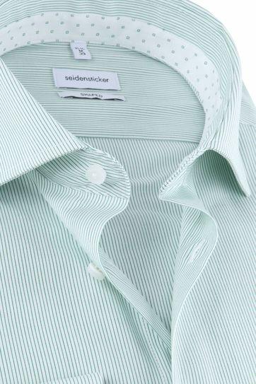 Seidensticker Hemd Streifen Grün