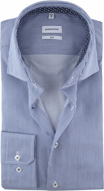Seidensticker Hemd Strepen Blauw