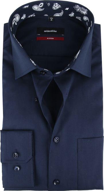 Seidensticker MF Overhemd Navy
