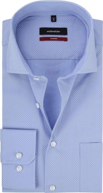 Seidensticker Modern-Fit Overhemd Blauw