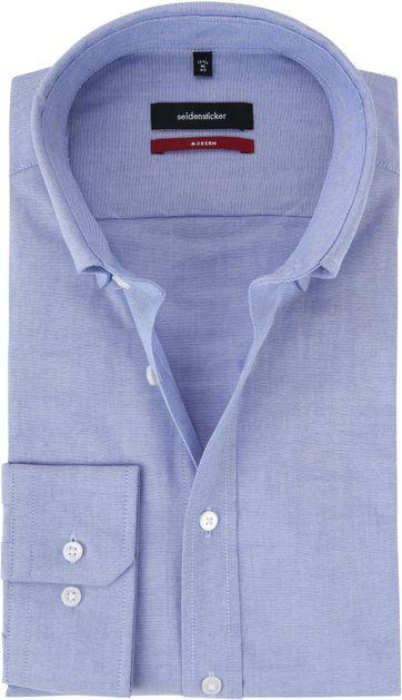 Seidensticker Modern-Fit Overhemd Lichtblauw