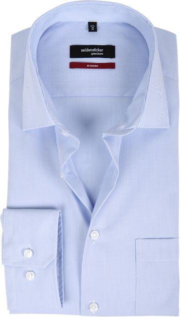 Seidensticker Non Iron Blue Stripes Modern-Fit