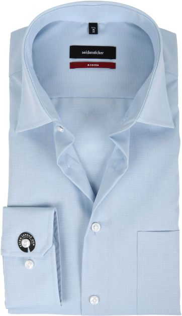 Seidensticker Non Iron Light Blue Modern-Fit S7