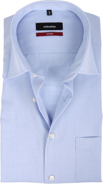 Seidensticker Non Iron Light Blue Modern-Fit SS