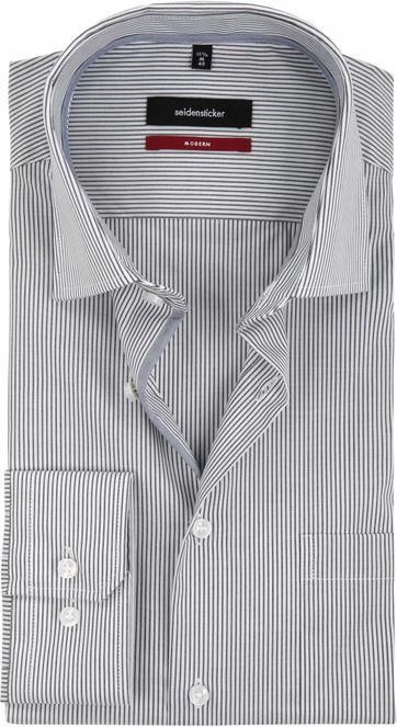 Seidensticker Non Iron MF Stripes Black White