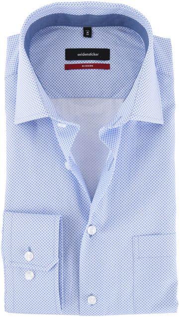 Seidensticker Overhemd Blauw Print