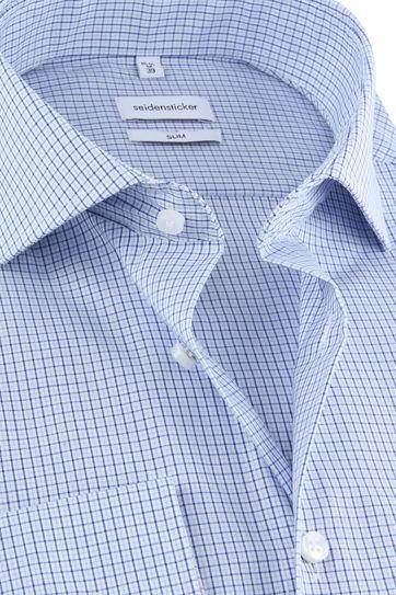 Seidensticker Overhemd Blauw Ruiten