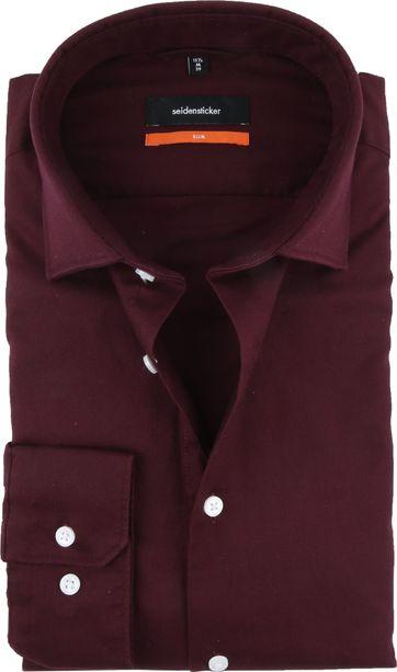 Seidensticker Overhemd Bordeaux