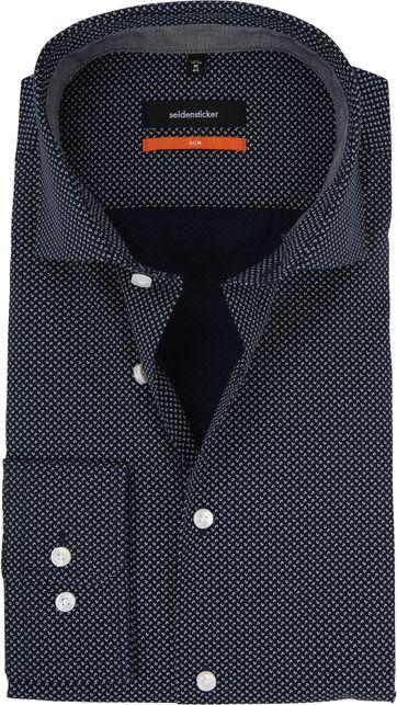 Seidensticker Overhemd Dessin Navy