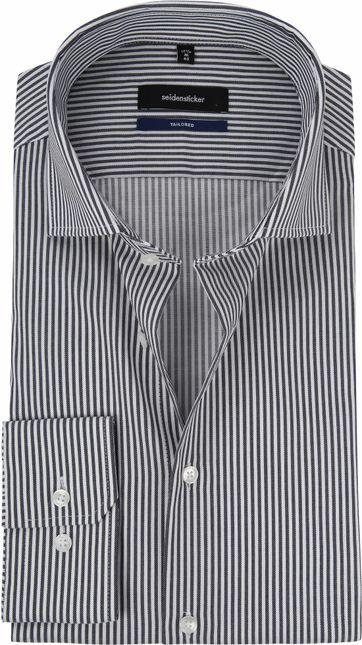 Seidensticker Overhemd Grijs Strepen
