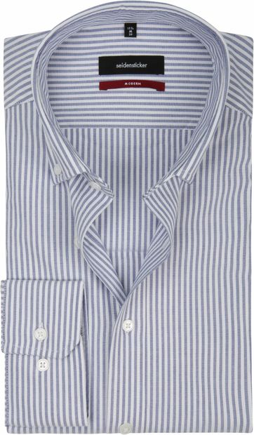 Seidensticker Overhemd MF Streep Blauw