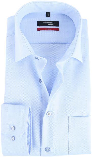 Seidensticker Overhemd Modern Fit Blauw