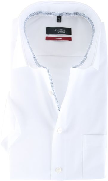 Seidensticker Overhemd Modern Fit Korte Mouw Wit