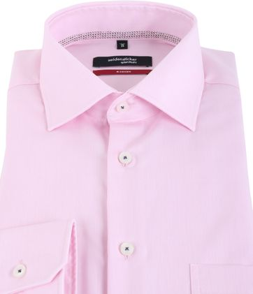Detail Seidensticker Overhemd Modern Fit Roze