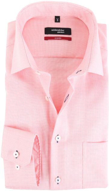 Seidensticker Overhemd Modern Fit Zalm