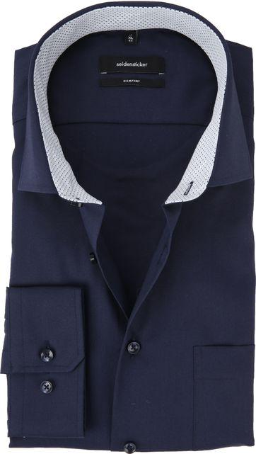 Seidensticker Overhemd Navy CF