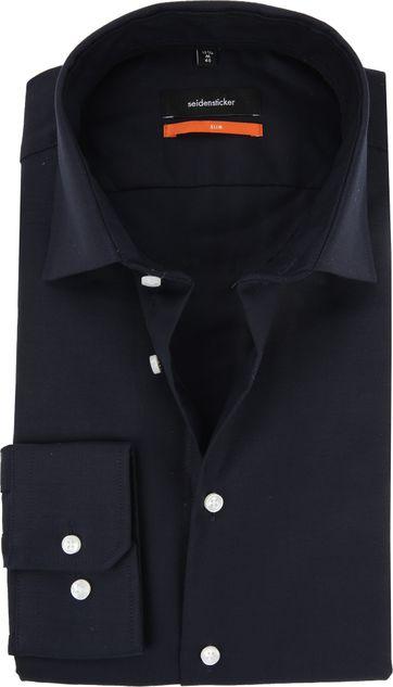 Seidensticker Overhemd Oxford Navy