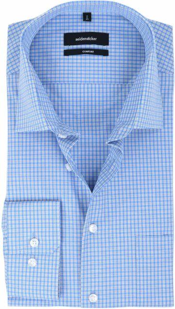 Seidensticker Overhemd Ruit Blauw