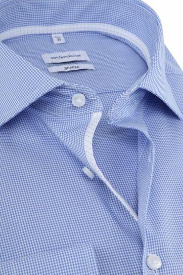 Seidensticker Overhemd Ruiten Blauw
