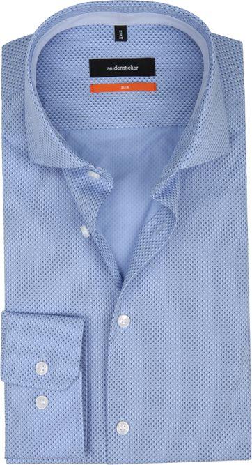 Seidensticker Overhemd SF Blauw Dessin