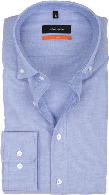 Seidensticker Overhemd SF Button Down Blauw