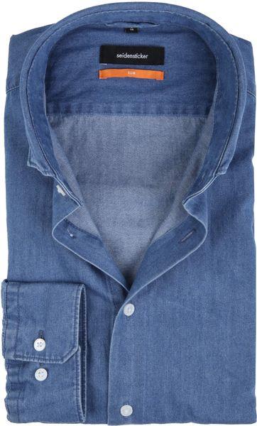 Seidensticker Overhemd SF Denim Blue