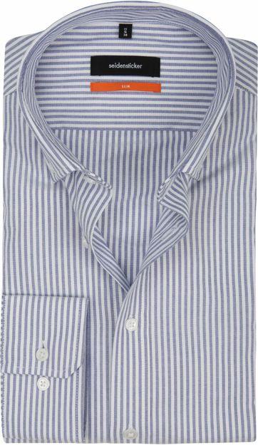 Seidensticker Overhemd SF Streep Blauw