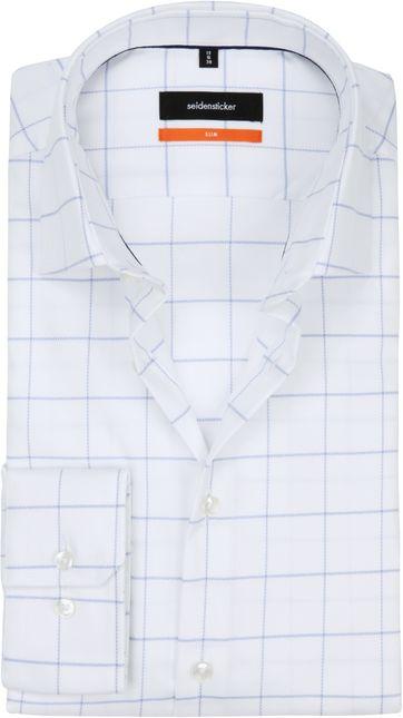 Seidensticker Overhemd SF Wit Ruit