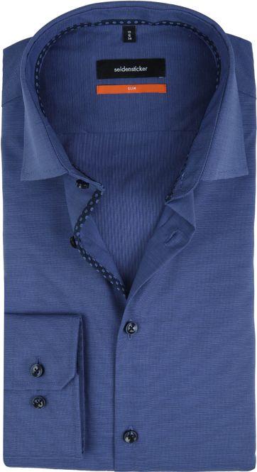 Seidensticker Overhemd Slim-Fit Navy