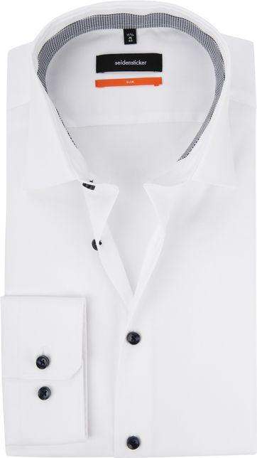 Seidensticker Overhemd Slim Wit