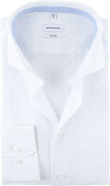 Seidensticker Overhemd Stippen Wit
