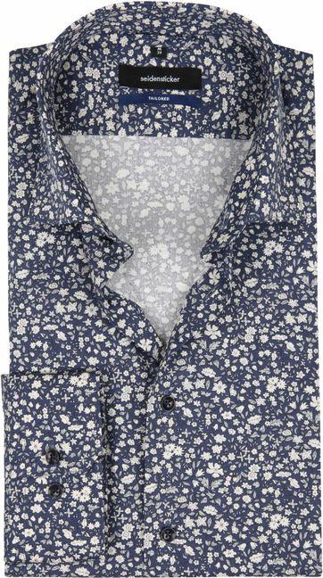 Seidensticker Overhemd TF Bloem Navy