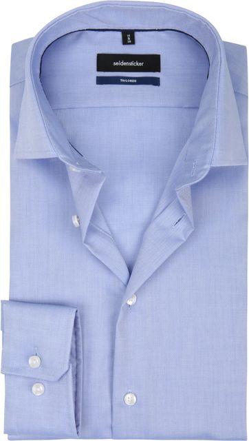 Seidensticker Overhemd TF Dessin Blauw