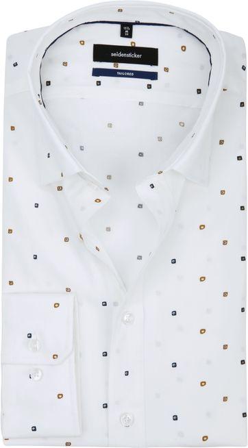 Seidensticker Overhemd TF Print Wit