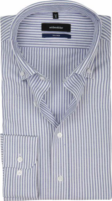 Seidensticker Overhemd TF Streep Blauw