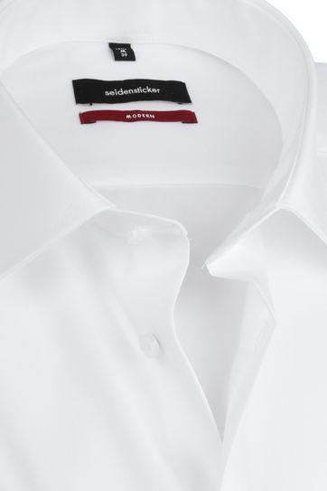 Seidensticker Overhemd Wit Korte Mouw