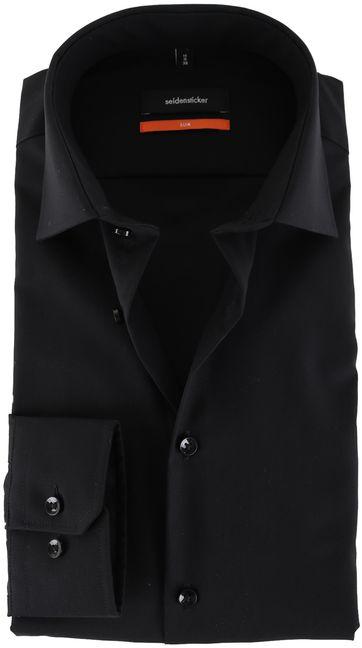 Seidensticker Overhemd Zwart