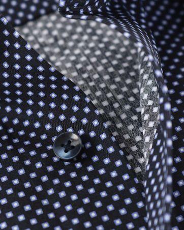Detail Seidensticker Overhemd Zwart Print