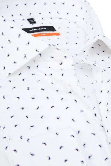 Seidensticker SF Overhemd Wit Dessin