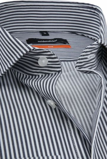 Seidensticker SF Shirt Stripes Navy