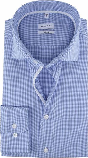 Seidensticker Shirt Checkered Blue