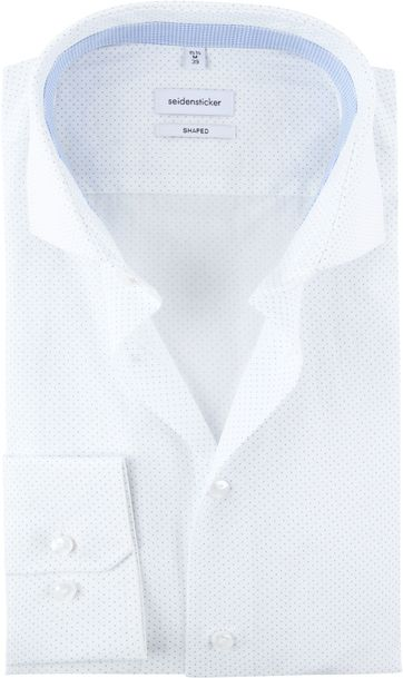 Seidensticker Shirt Dots White