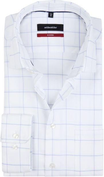 Seidensticker Shirt MF Checks White