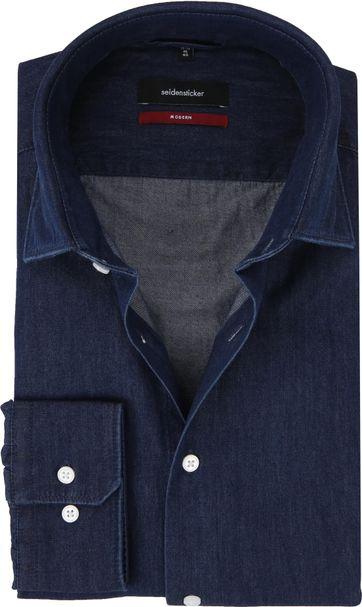 Seidensticker Shirt MF Denim Navy