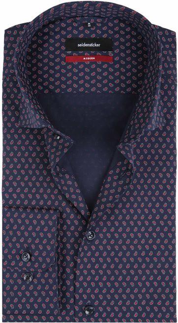 Seidensticker Shirt MF Paisley Navy