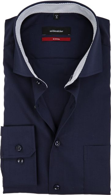 Seidensticker Shirt Modern-Fit Navy