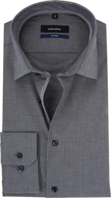 Seidensticker Shirt Non Iron Grey Blue